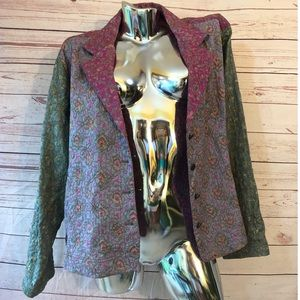 Chico's Embroidered Watercolor Blazer size 3 XL